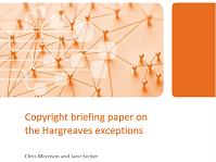 Image of the cover of the copyight briefing paper